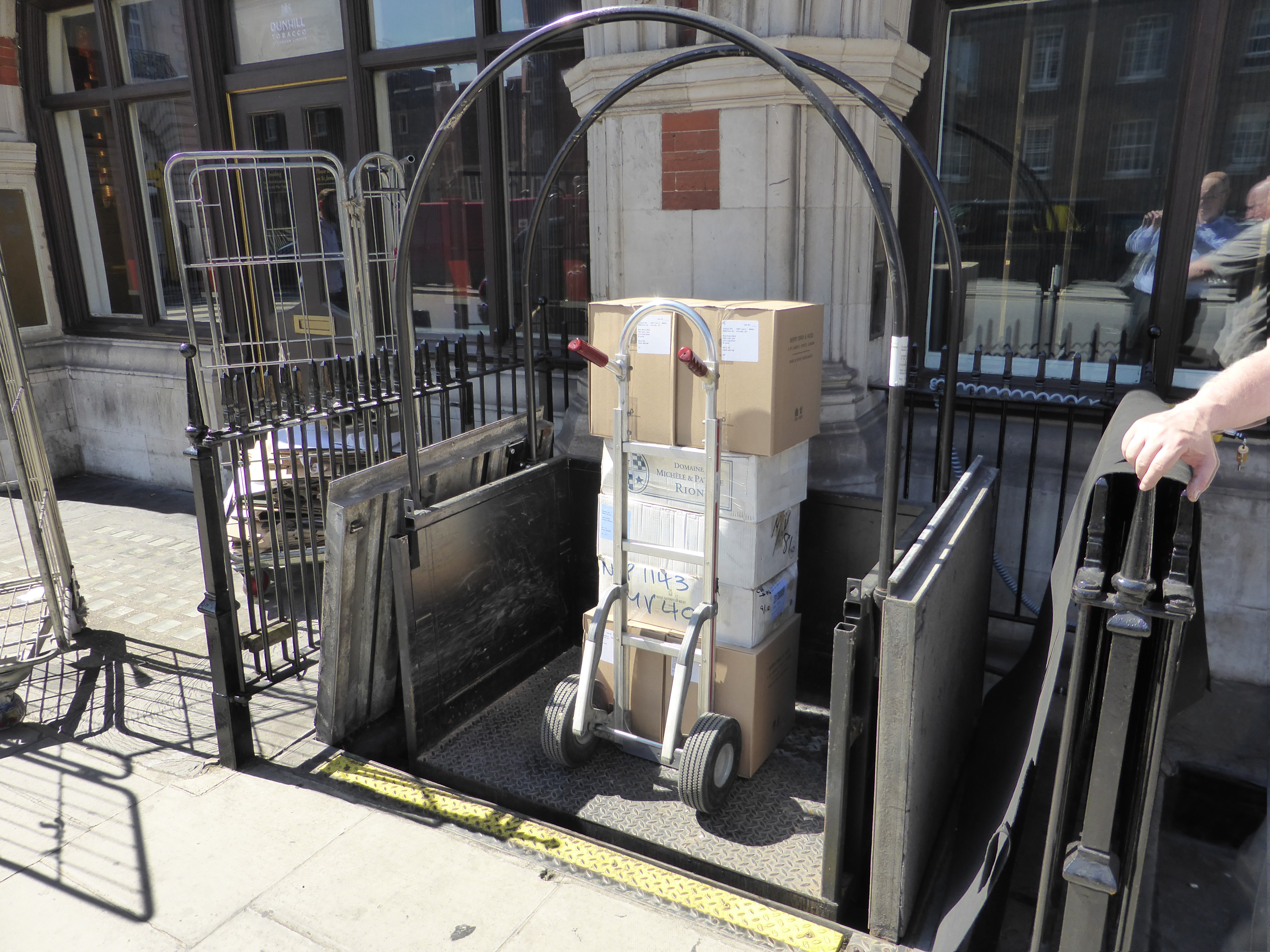 Goods Lift to transport deliveries from ground floor to lower ground floor.