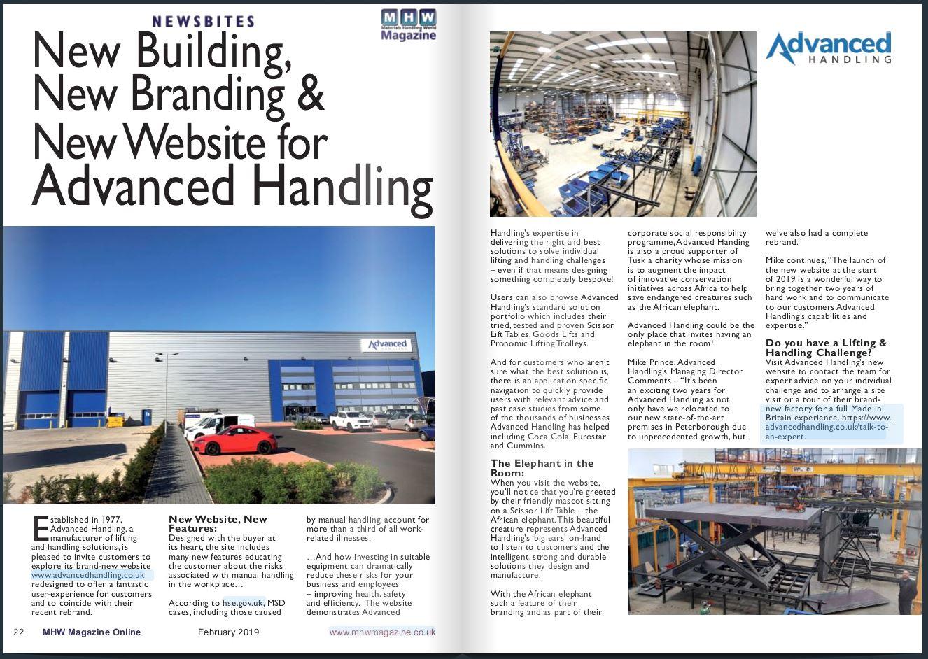 MHW Magazine AH press release