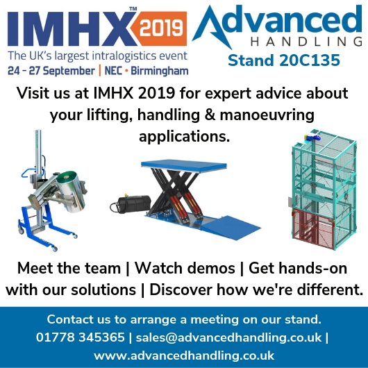 Invitation to IMHX 2019 from Advanced Handling